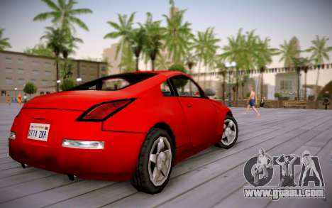 Nissan 350Z SA Style for GTA San Andreas left view