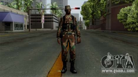 The African American soldier in the standard cam for GTA San Andreas second screenshot