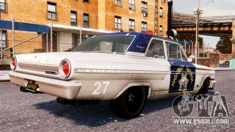 Ford Fairlane 1964 Police for GTA 4 left view