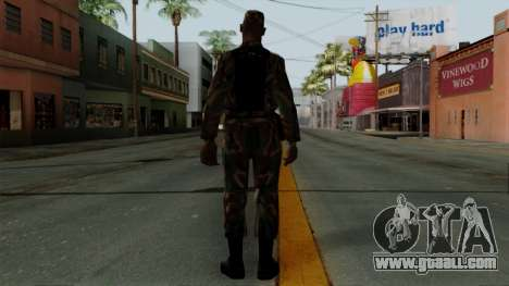 The African American soldier in the standard cam for GTA San Andreas third screenshot