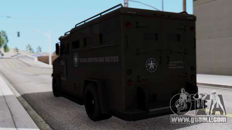 GTA 5 Enforcer S.W.A.T. for GTA San Andreas left view