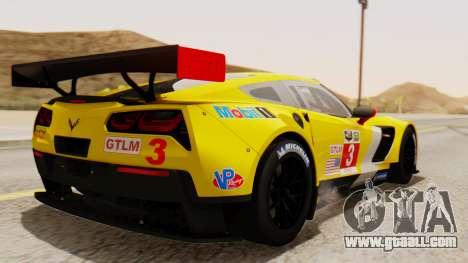 Chevrolet Corvette C7R GTE 2014 PJ2 for GTA San Andreas left view