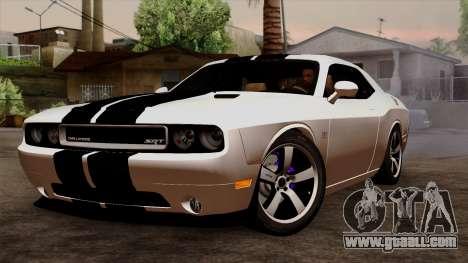 Dodge Challenger SRT8 392 2012 Stock Version 1.0 for GTA San Andreas inner view