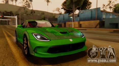 Dodge Viper SRT GTS 2013 IVF (HQ PJ) HQ Dirt for GTA San Andreas side view