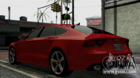 Audi RS7 2014 for GTA San Andreas back view