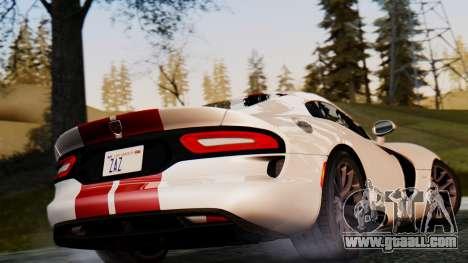 Dodge Viper SRT GTS 2013 IVF (MQ PJ) HQ Dirt for GTA San Andreas back view