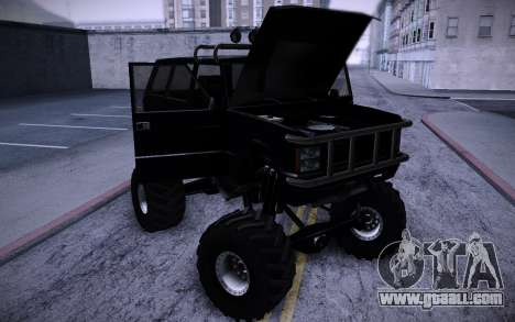 Huntley Monster v3.0 for GTA San Andreas back view