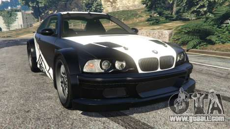 BMW M3 GTR E46 white on black for GTA 5