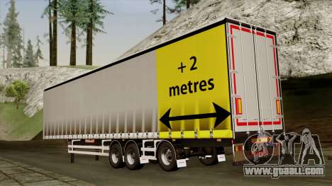 Trailer 15 meters for GTA San Andreas left view