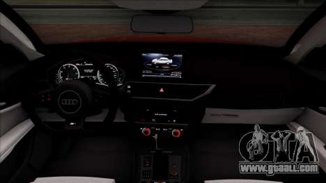 Audi RS7 2014 for GTA San Andreas inner view
