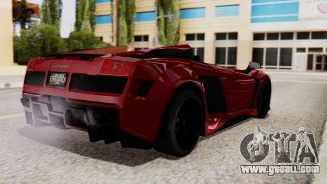 Lamborghini Gallardo J Style for GTA San Andreas left view