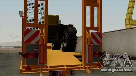 Trailer Fliegl Cargo for GTA San Andreas back view