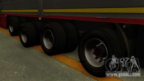 Flatbed3 Red for GTA San Andreas back left view