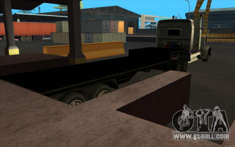Flat Trailer for GTA San Andreas back left view
