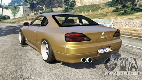 GTA 5 Nissan Silvia S15 (Wide & Camber) v0.1 rear left side view