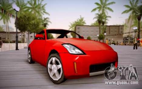 Nissan 350Z SA Style for GTA San Andreas