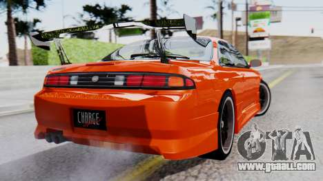 Nissan Silvia S14 (240SX) Fast and Furious for GTA San Andreas left view