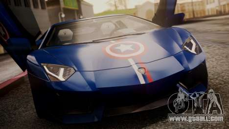 Lamborghini Aventador LP 700-4 Captain America for GTA San Andreas bottom view