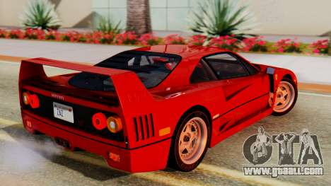 Ferrari F40 1987 with Up Lights for GTA San Andreas left view