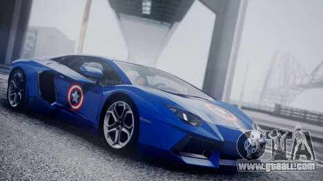 Lamborghini Aventador LP 700-4 Captain America for GTA San Andreas back view