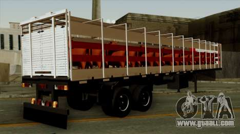 Trailer Cows for GTA San Andreas left view