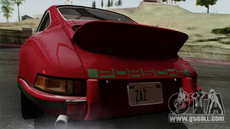 Porsche 911 Carrera RS 2.7 Sport (911) 1972 IVF for GTA San Andreas back view