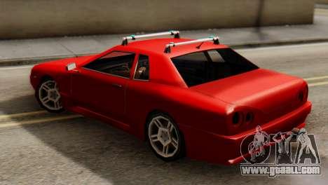 Elegy Korch Stock Wheel for GTA San Andreas back left view