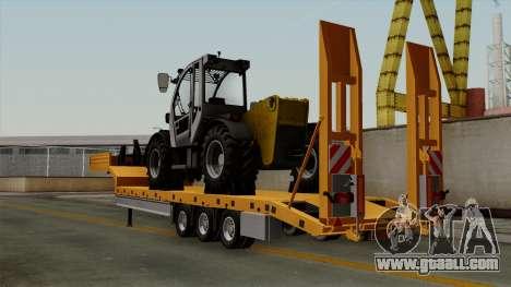 Trailer Fliegl Cargo for GTA San Andreas left view