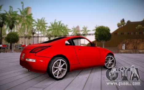 Nissan 350Z SA Style for GTA San Andreas back left view