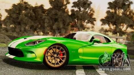 Dodge Viper SRT GTS 2013 IVF (MQ PJ) HQ Dirt for GTA San Andreas wheels