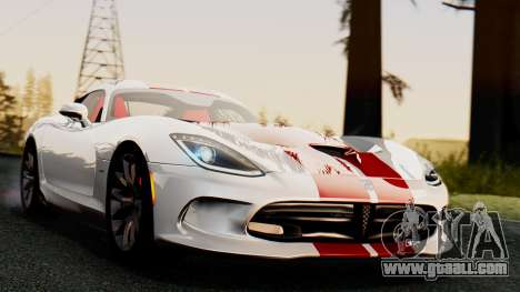 Dodge Viper SRT GTS 2013 IVF (MQ PJ) HQ Dirt for GTA San Andreas right view