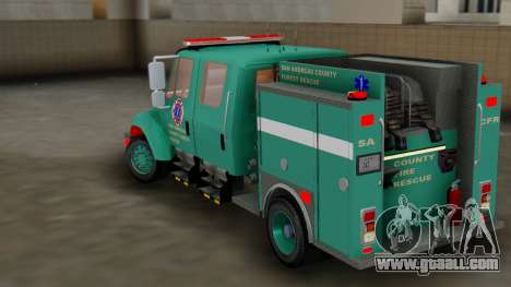 SACFR International Type 3 Rescue Engine for GTA San Andreas back left view