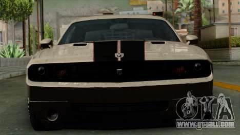 Dodge Challenger GT S for GTA San Andreas back view
