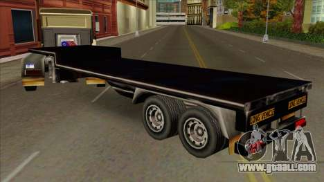 Flat Trailer for GTA San Andreas