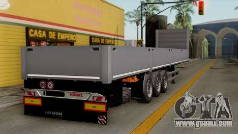 Trailer Kogel for GTA San Andreas left view