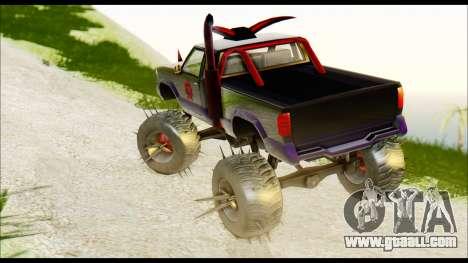 Predaceptor Monster Truck (Saints Row GOOH) for GTA San Andreas left view
