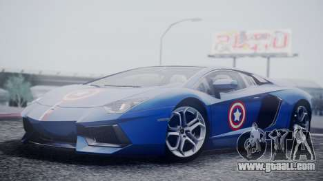 Lamborghini Aventador LP 700-4 Captain America for GTA San Andreas right view