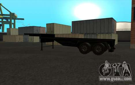 Flat Trailer for GTA San Andreas right view