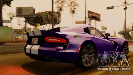 Dodge Viper SRT GTS 2013 IVF (HQ PJ) HQ Dirt for GTA San Andreas left view
