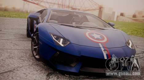 Lamborghini Aventador LP 700-4 Captain America for GTA San Andreas left view