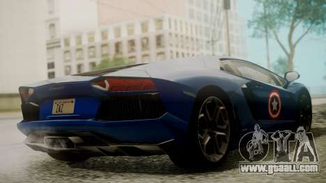 Lamborghini Aventador LP 700-4 Captain America for GTA San Andreas inner view
