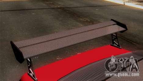 GTA 5 Declasse Asea for GTA San Andreas back view