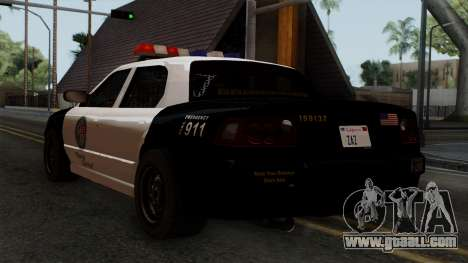 GTA 5 LS Police Car for GTA San Andreas left view