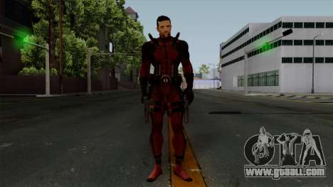 Deadpool without Mask for GTA San Andreas second screenshot