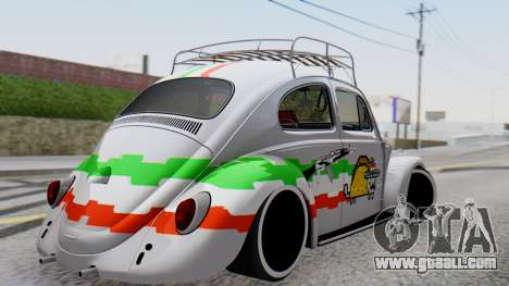 Volkswagen Beetle Vocho Nyan Cat V Mexicano for GTA San Andreas left view