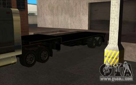 Flat Trailer for GTA San Andreas left view