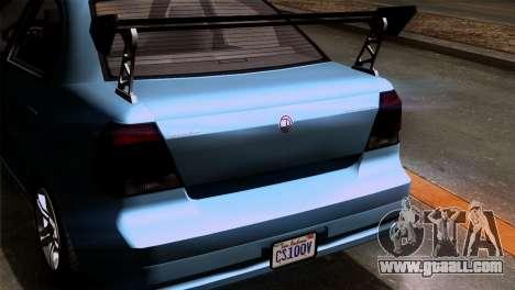 GTA 5 Declasse Asea IVF for GTA San Andreas inner view