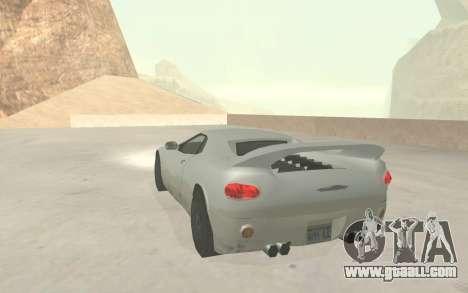 GTA 3 Infernus SA Style v2 for GTA San Andreas side view