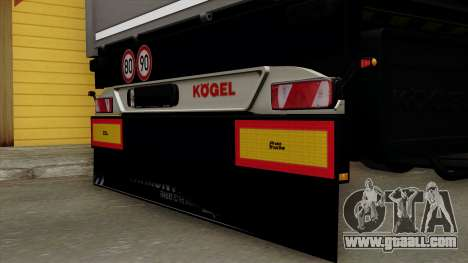 Trailer Kogel for GTA San Andreas back view