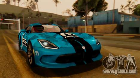 Dodge Viper SRT GTS 2013 IVF (HQ PJ) HQ Dirt for GTA San Andreas interior